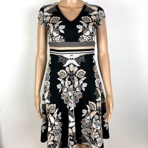 Ett twa Anthropologie soirée floral knit dress 0P